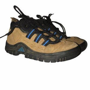 Adidas Brown Leather Hiking Boots Shoes 6
